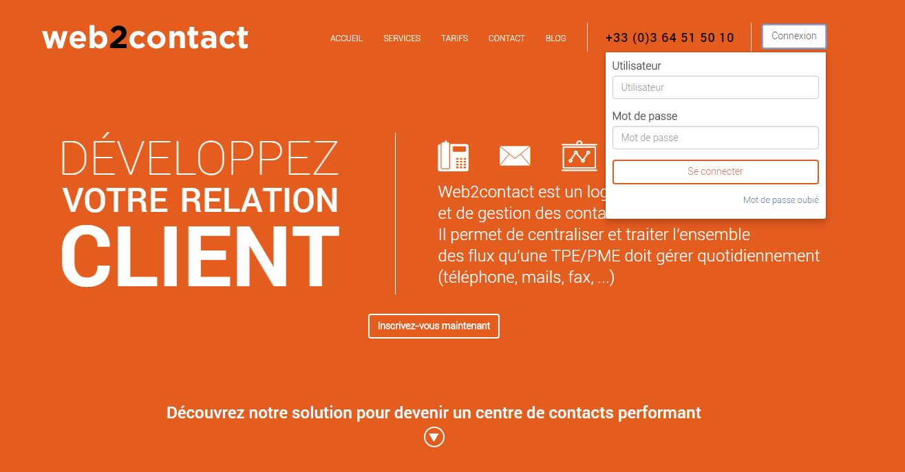 Accueil Web2contact